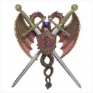 3801100: Dualing Dragon Plaque Sword Letter Openers