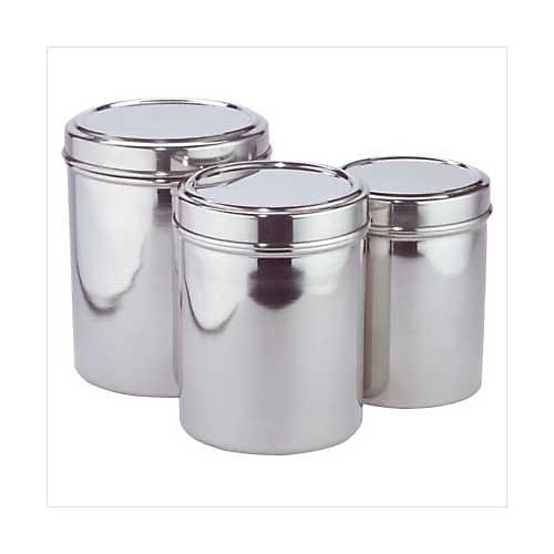 3535000: Stainless Steel Canister Set -  3 Pc Set