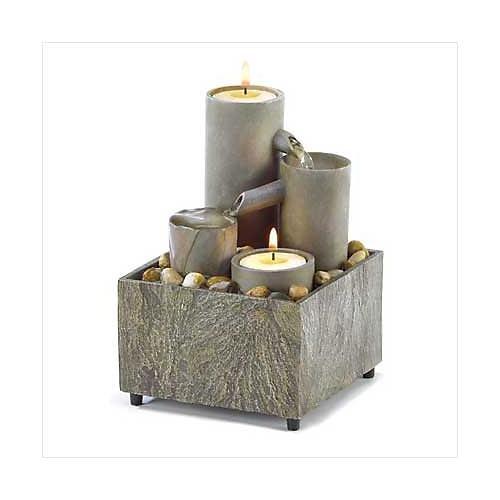 3835400: Tabletop Tealight Pillar Fountain - Home and Office Decor oos ?