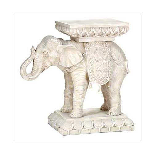 3200500: Good Fortune Elephant Plant Stand - Home or Garden Decor