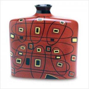 3865600: Bold Geometrics Abstract Tribal Vase