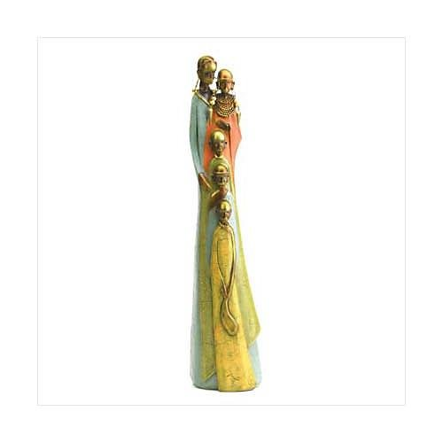 3799400: Tribal Family Figurine - African Decor