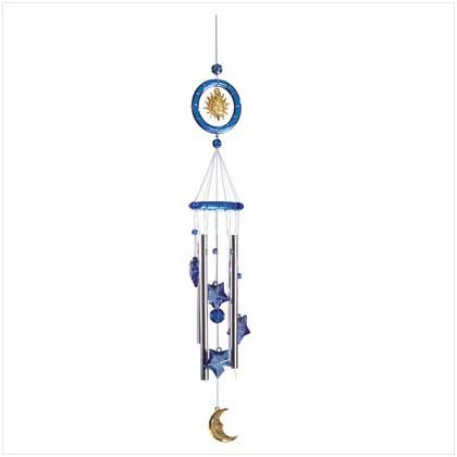 3365600: Celestial Sun, Star and Moon Wind Chimes