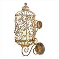 3903600: 19th Century Paisian Decor Birdcage Candle Holder