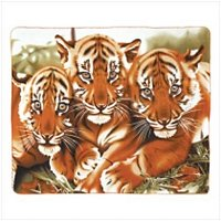 Wildlife Tigers Fleece Blanket Throw-oos?