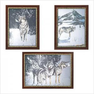 3927600: Winter Wolves Mirror Set - 3 pc.