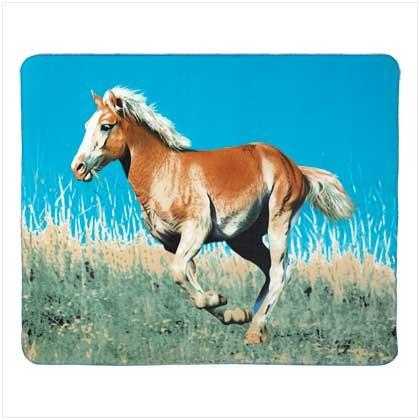 3934600: Wild Mustang Fleece Tapestry Throw