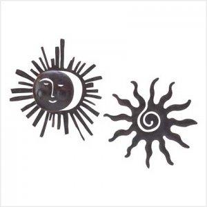 3900900: Tribal Sun Deco Metal Plaques - 2 pc. Set