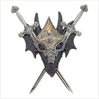 3926900: Armored Dragon Wall Crest with Removable Swords oos 6/20