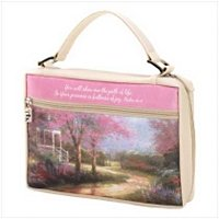 3990500: Peaceful and Beautiful Bible Cover - Thomas Kinkade with Verse