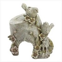 3953700: Flower Pot With Birds Toad House-For Your Frog Friends