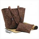 1216500:  Leopard Print Beach Combo Tote with Pillow and Mat - Multiple Uses