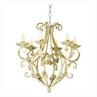 3560100: Romantic Wrought Iron Candle Chandelier