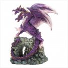 3982100: Amethyst Doube Headed Dragon Figurine