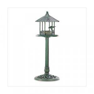3867600: Verdigris Gazebo Birdfeeder - Garden Decor