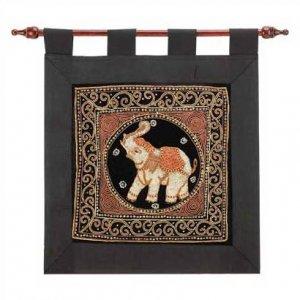 3996600: Beaded Elephant Tapestry