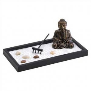 3988700: Tabletop Zen Buddha and Garden- Calming, Tranquility at Your Fingertips