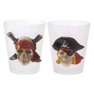 1290400: Pirate Skull Shot Glasses - 2 pc. Set