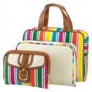 1289500: Candy Stripe Cosmetic Bag Trio - 3 pc. set