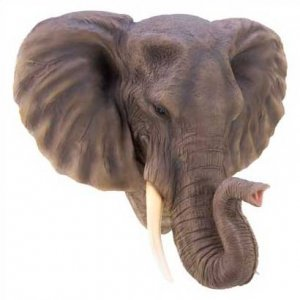 1261100:  Noble Elephant Wall Decor