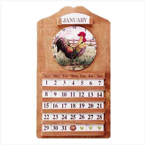 3377200: Rooster Clock and Calendar
