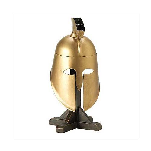 3936200: Greek Soliers Helmet with Wood Display Stand