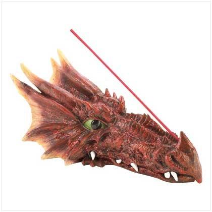 39802000: Ruby Dragon Incense Holder