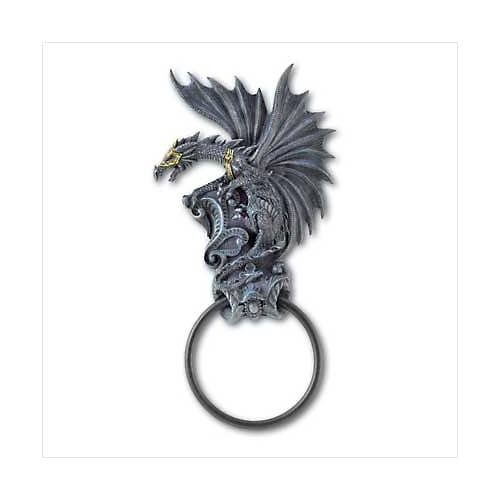 3862200: Black Dragon Door Knocker