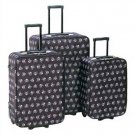 1293000: Stylish Skull and Cross-bones Luggage Set