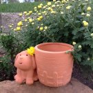 Natural Terra Cotta Animal Pot or Planter for Fun Gardeners