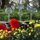 Set of 3 Hand Blown Glass Self Watering Aqua Globes in Different Shapes