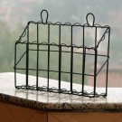 Antique Black Wall Mounted Antique Black Iron Mail Magazine Holder Utility Organizer
