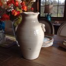 Vintage Old World Hand Thrown Water Jug with Faux Ring Handles