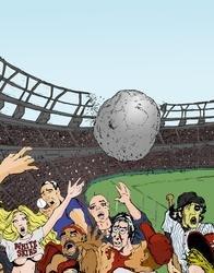 Baseball Boulder Print