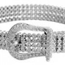 women diamond belt bracelet