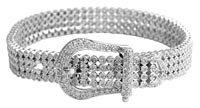 women diamond belt bracelet