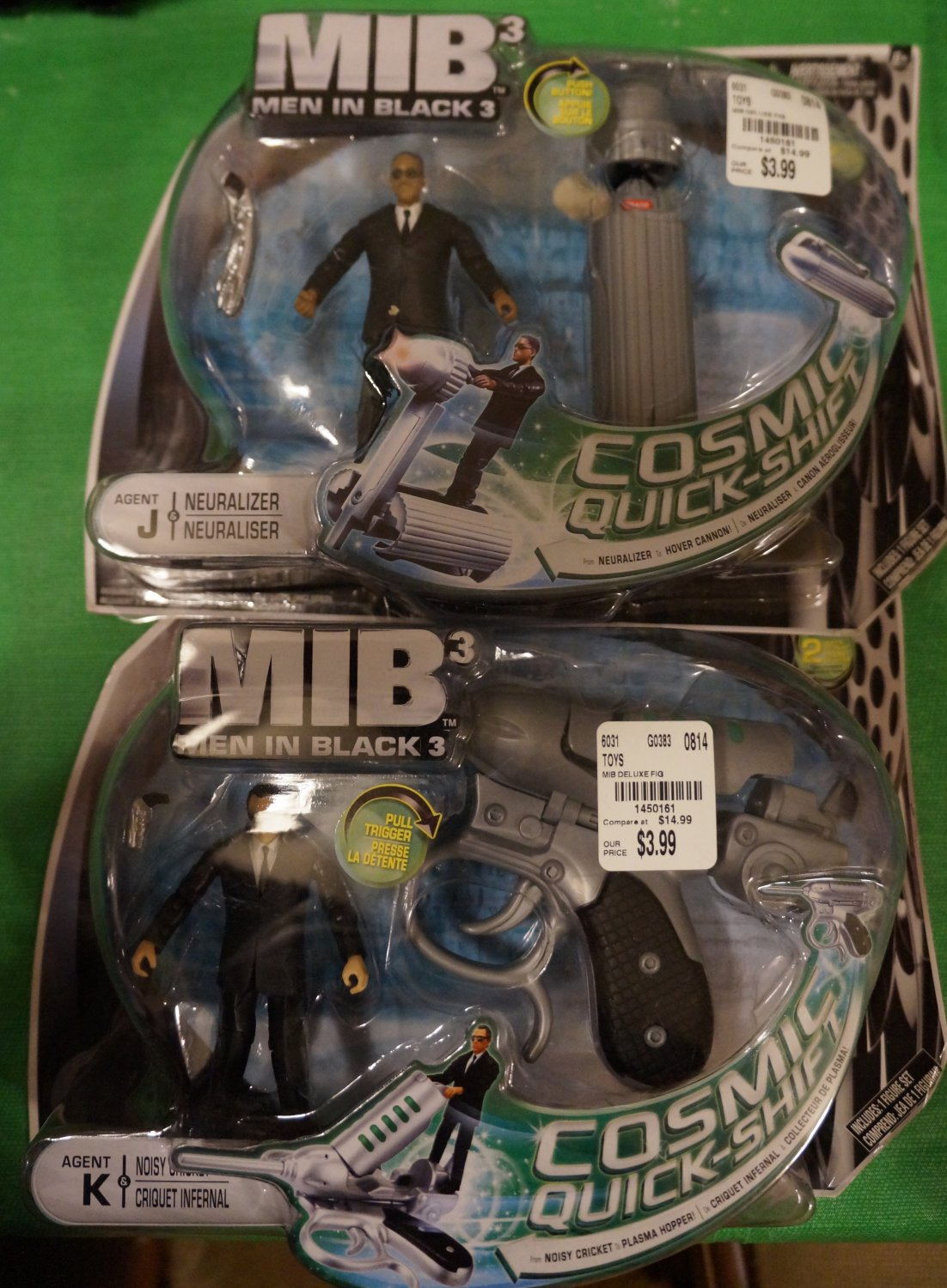 MiB3 Agents J & K with Neuralizer and Cricket (Set of 2)