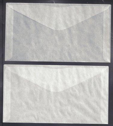 100 #6 Glassine Envelopes  ( 3 3/4 x 6 3/4 inches )