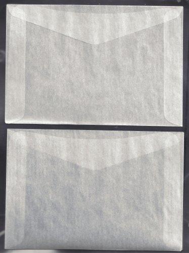 """100 #8 Glassine Envelopes  ( 6 5/8"""" x 4 1/2"""" )"""