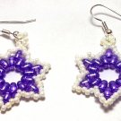 Hand Made Purple Star Shaped Women's Earrings (E03225)