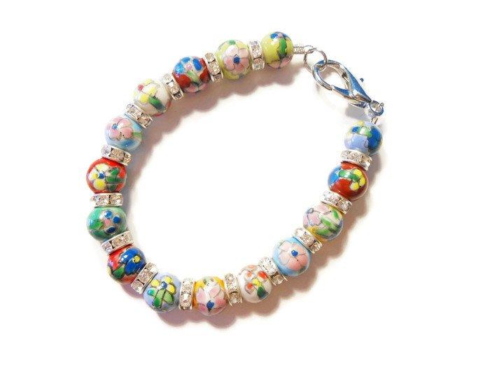 Hand Made Carnivale Women's Beaded Bracelet (B01819)