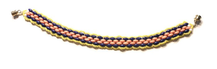 "Hand Made Women's Beaded ""Snake"" Bracelet (B00740)"