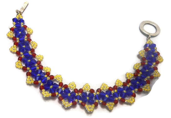 Hand Made Peaked Crystal Women's Bracelet (B02844)