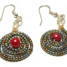 Hand Made Beaded Dome Shaped Earrings (E00124)