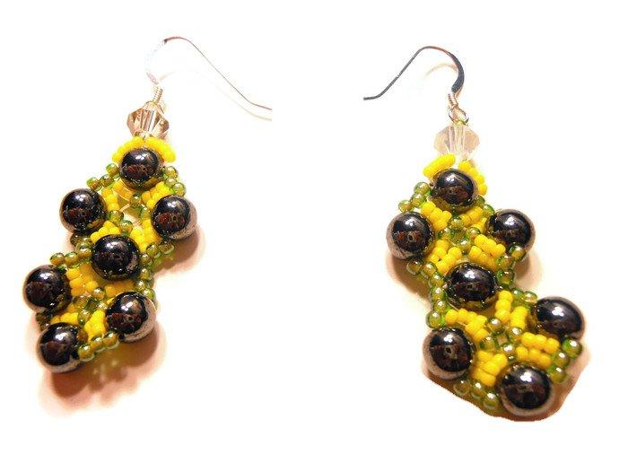 Hand Made  Beaded Women's Earrings (E03625)