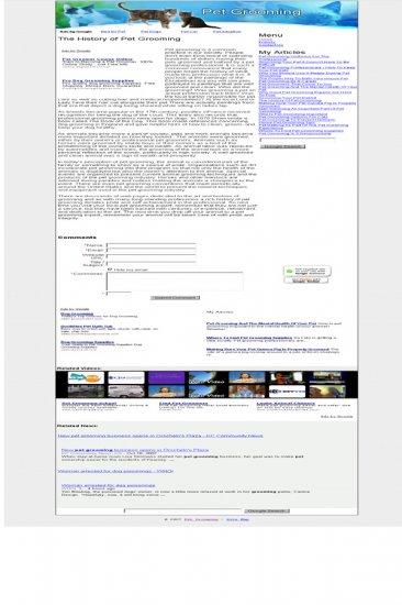 Pet Grooming Adsense Integrated Website