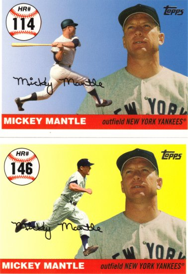Mickey Mantle Topps Home Run History