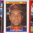 3 Sandy Alomar Rookie cards