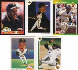 5 Barry Bonds Pirates Cards