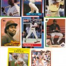 (12) Tony Gwynn Cards of HOF'er